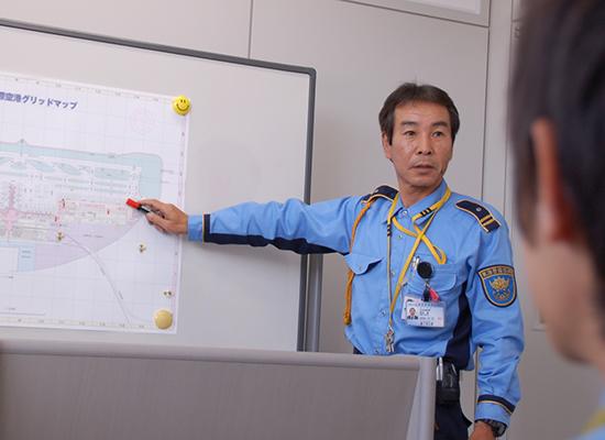 警務職として入社した方への法定新任教育や現場所属での実務研修(OJT)
